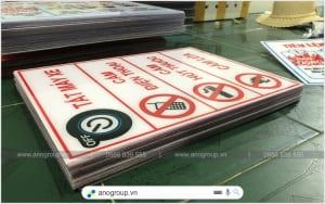 Biển báo cấm cho cây xăng, kho hóa chất giá rẻ
