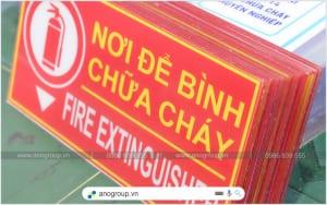 Biển báo nơi để bình chữa cháy