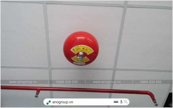 Quả cầu chữa cháy tự động 8kg bột BC XZFTB-8