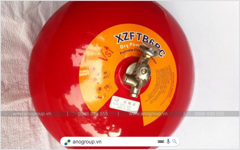 Quả cầu chữa cháy tự động 6kg bột BC XZFTB-8